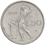 REPUBBLICA ITALIANA 50 Lire 1950 Prova in ...