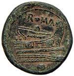 Anonime - Oncia (217-215 a.C.) Testa elmata ...