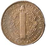 FRANCIA Luigi XVI (1774-1793) 2 Sol 1792 A ...