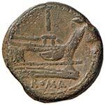 Anonime - Asse (dopo il 211 a.C.) Testa di ...