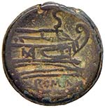 Anonime - Semisse (dopo il 211 a.C.) Testa ...