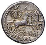 Aburia – B. Aburius Geminus - Denario (132 ...