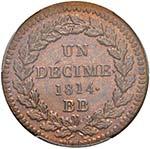 FRANCIA Napoleone (1804-1814) Decime 1814 BB ...