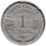 FRANCIA Franco 1943 Essai – Lec. 43 Zinco ...