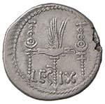 Marco Antonio Denario (32-31 a.C.) Nave a d. ...