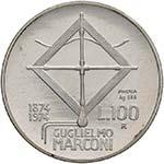 REPUBBLICA ITALIANA 100 Lire 1974 Marconi ...