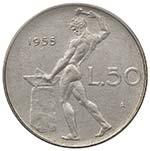 REPUBBLICA ITALIANA 50 Lire 1955 - AC R ...