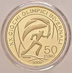 REPUBBLICA ITALIANA 50 Euro 2006 Olimpiadi ...