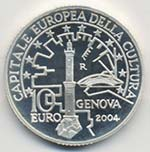 REPUBBLICA ITALIANA 10 Euro 2004 Genova ...