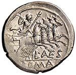 Antestia - L. Antestius Gragulus - Denario ...