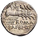 Baebia - M. Baebius - Denario (137 a.C.) ...
