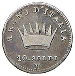MILANO Napoleone I (1805-1814) 10 Soldi 1808 ...