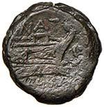 Pinaria (155 a.C.) Semisse - Testa di ...