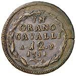 NAPOLI Ferdinando IV (1759-1799) Grano 1791 ...