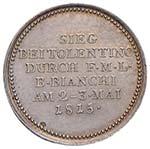 """NAPOLI Medaglia 1815  """"Per la marcia degli ..."""