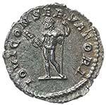 Macrino (217-218) Denario - Busto laureato a ...