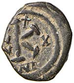 BISANZIO Giustino II (565-578) Mezzo follis ...