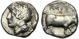 Campania, Didramma, Hyria, c. ...