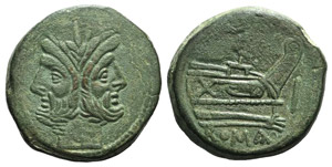 Anonymous, Rome, after 211 BC. Æ ...