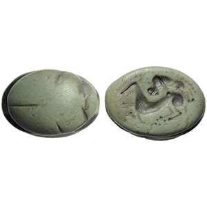 Etruscan jade scarab with ...