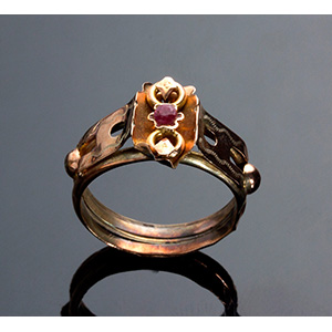 14K Gold Ring - Italy 19th ...