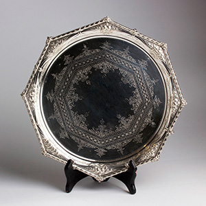 Victorian Octagonal Silver Plated ...