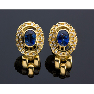 18K gold, blue sapphire and ...