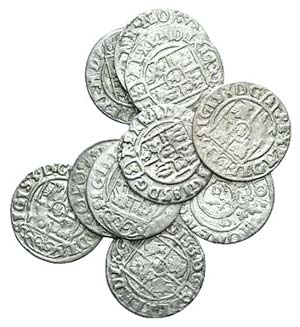 Lot of 10 BI Poland coins, to be ...