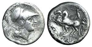 Campania, Cales, c. 265-240 BC. AR ...