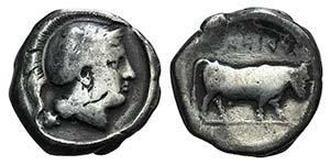 Campania, Hyria, c. 405-400 BC. AR ...