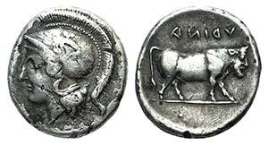 Campania, Hyria, c. 405-400 BC. ...