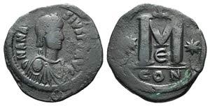 Anastasius I (491-518). Æ 40 ...