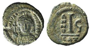 Maurice Tiberius (582-602). Æ 10 ...