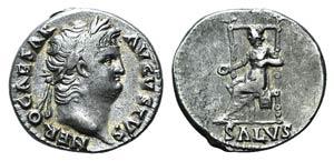 Nero (54-68). AR Denarius (17mm, ...