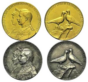 Germany, lot of 2 Medals, to be ...