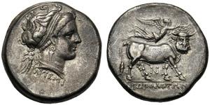 Campania, Didrachm,Neapolis, c. ...