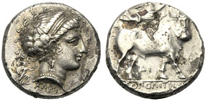 Campania, Didrachm, Neapolis, c. ...