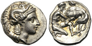 Apulia, Diobol, Tarentum, c. ...