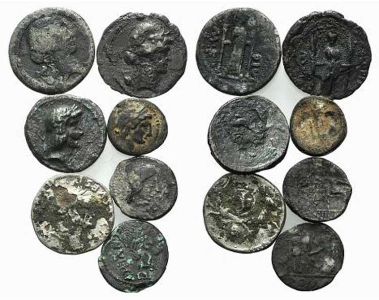 Lot of 7 Plated AR Roman ...