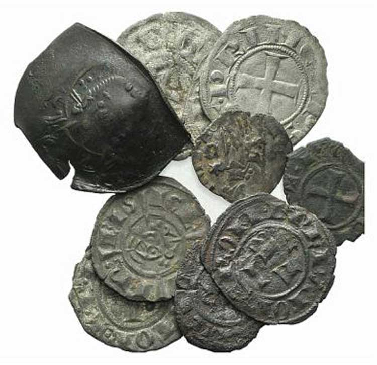 Mixed lot of 11 coins, including ...