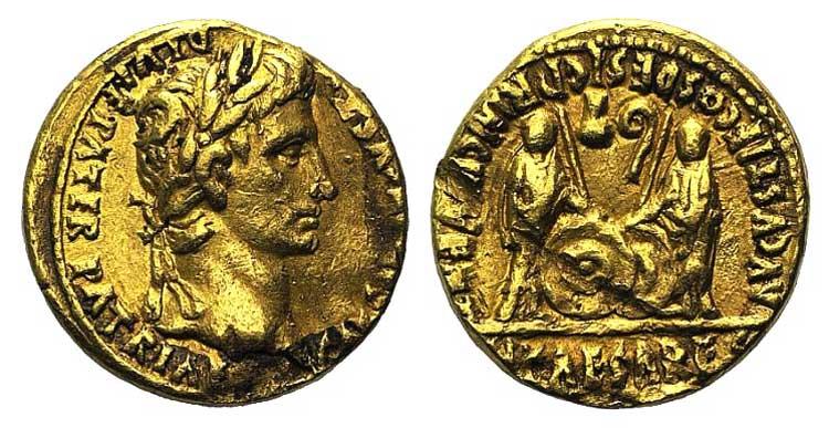 Augustus (27 BC-AD 14). AV Aureus ...