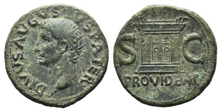 Divus Augustus (died AD 14). Æ As ...