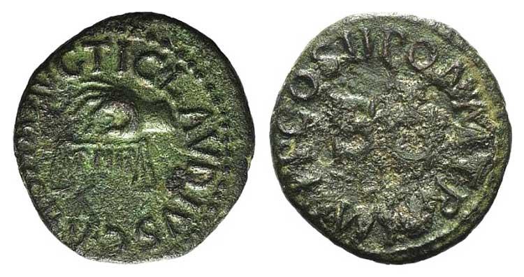 Claudius (41-54). Æ Quadrans ...