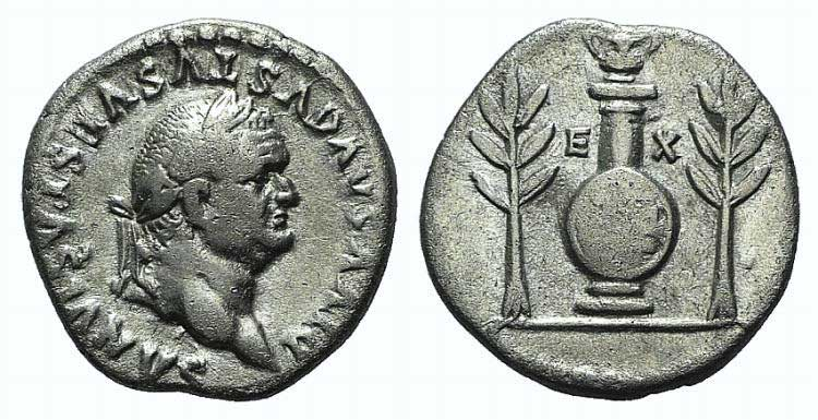 Divus Vespasian (died AD 79). AR ...