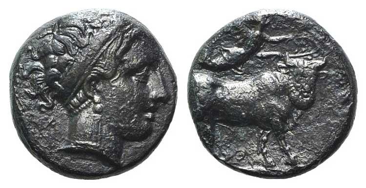 Campania, Neapolis, 350-325 BC. AR ...
