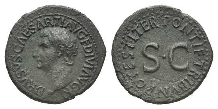 Drusus (Caesar, 19-23). Æ As ...