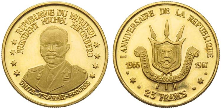 BURUNDI - Ntare V (1966) - 25 ...