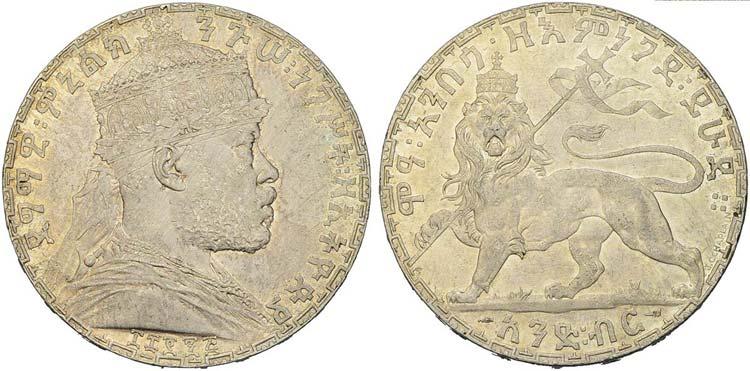 ETIOPIA - Menelik II (1889-1913) - ...