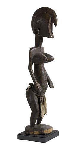 A BAMBARA WOODEN STANDING FEMALE ...