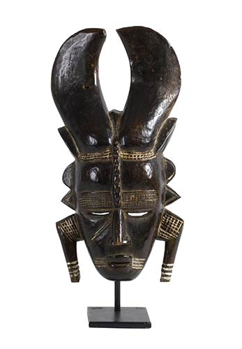 A WOODEN LIGBI MASK FROM IVORY ...